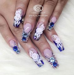 Summer Nails by Veronica_Vargas from Nail Art Gallery Fabulous Nails, Gorgeous Nails, Pretty Nails, Cute Nails, 3d Acrylic Nails, 3d Nails, Coffin Nails, Pastel Nails, Glam Nails