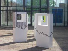 Woood Angular Abstract Modern Contemporary sculpture statuary #artwork by #sculptor Abu Jafar titled: 'Hope III (abstract White Rectangular Indoor sculptures)'. #art #artist #sculpture #AbuJafar