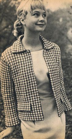 Free Vintage 60s Houndstooth Jacket Knit Pattern and Tutorial
