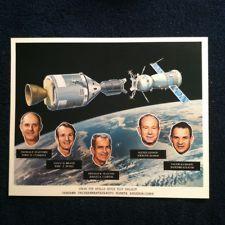 Vintage Nasa Litho Of Apollo-Soyuz. **JSCL-127**