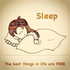 Sleep-The best things in life are free!