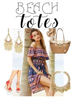 """""""Beach Tote Challenge!"""" by sevendaytrends on Polyvore featuring Daisy Street, MICHAEL Michael Kors and BCBGeneration"""