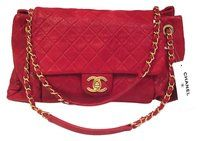 06fba94f48b8 The Chanel Classic Flap  accordion  Iridescent Quilted Large New Red  Calfskin Leather Shoulder Bag is a top 10 member favorite on Tradesy.