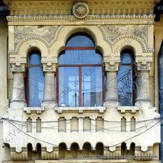 Neo-Romanian style balcony assembly, Bucharest