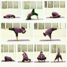 An amazing plus size Yogi, follow her on Tumblr. https://big-gal-yoga.tumblr.com Joy to the Yogis Sassyyogi's Christmas Challenge Day 1 Revolved wide legged standingforward fold Day 2 Rabbit pose Day 3 Warrior III with ea...