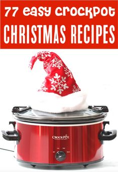 Crockpot Recipes Easy Christmas Dinners, Sides, Appetizers and Desserts for your Holidays! Simple recipes for a spectacular holiday! Go save your favorites now to have on hand for your parties! Christmas Dinner Sides, Best Christmas Appetizers, Holiday Dinner, Christmas Dinners, Christmas Parties, Christmas Potluck, Simple Christmas, Christmas 2019, Slow Cooking