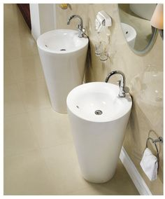 Modern Bathroom Pedestal Sink - Ferrara. Loading zoom