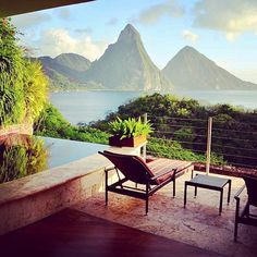 Forget your winter woes at Jade Mountain, St. Lucia. Photo courtesy of uniquehotels on Instagram.