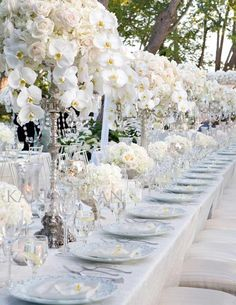 Classic | romantic | elegant | candle | wedding inspiration | ceremony | centerpiece | orchids | garden roses | hydrangea | peonies | bouquet | bridal | roses | cream | blush