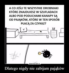 Dlatego nigdy nie zabijam pająków – Very Funny Memes, Funny Mems, Everything And Nothing, Best Memes, I Laughed, Haha, Funny Pictures, Geek Stuff, Jokes
