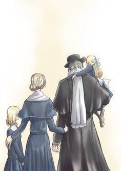 The Gascoigne family by zinny @ http://www.pixiv.net/member_illust.php?mode=medium&illust_id=49771936