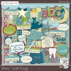 FREE Tooth Fairy Digital Scrapbook kit--free downloads over the next 10 days. starting Feb 10.