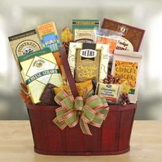 Snackers Delight Gift Basket by The Gift Basket Gallery -- Awesome products selected by Anna Churchill