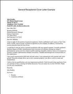 Our totally free receptionist cover letter sample will help be sure you make a strong first impression and find a call back. This cover letter sample for a Front Desk Receptionist Resume is intended to help you in your job… Continue Reading → Cover Letter Template, Cover Letter For Resume, Letter Templates, Cover Letters, Medical Receptionist, Medical Assistant Resume, Sample Resume Templates, Job Resume Samples, Curriculum Vitae Examples