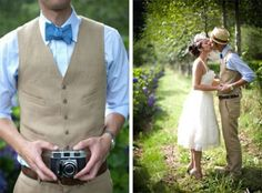 hipster wedding/vintage wedding- idea for Chris' suit Casual Groom Attire, Casual Grooms, Groom Outfit, Wedding Groom, Wedding Suits, Wedding Attire, Casual Wedding, Wedding Vest, Wedding Photoshoot