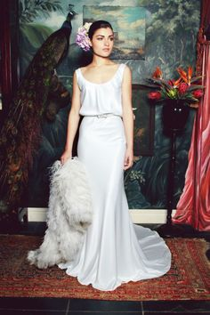 anna georgina 2015 bridal scoop neckline with straps blouson sheath wedding dress with coat elisabeth 2015 Wedding Dresses, Wedding Gowns, Bridesmaid Dresses, Photomontage, Gorgeous Wedding Dress, Beautiful Bride, South African Wedding Dress, Mod Wedding, Anna