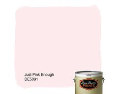 Dunn-Edwards Paints paint color: Just Pink Enough DE5091 | Click for a free color sample #DunnEdwards