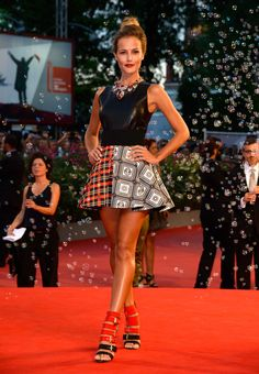 Fabulously Spotted: Natalia Borges Wearing Fausto Puglisi – 2013 Venice Film Festival 'Tracks' Premiere