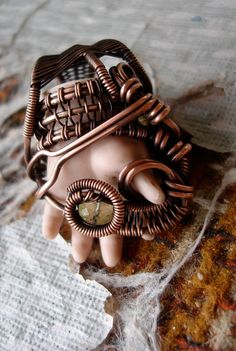 Copper Wrapped // Vintage Doll Hand // Lemon by Magickwrapper, $72.00