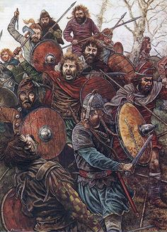 It was the irruption of the Picts, breaking through the undefended wall, and into Britannia that led the Britons, after their appeal to Aetius to be readmitted to the empire went unheeded, to seek military help from Anglo- Saxon foederates. A fatal error. Medieval World, Medieval Fantasy, Vikings, Ancient Rome, Ancient History, Roman Britain, Celtic Warriors, Anglo Saxon, British History
