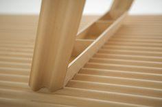 ripple table: world's lightest timber table by benjamin hubert
