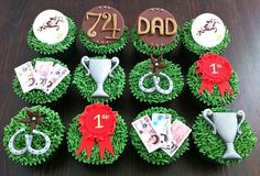 Why has no-one ever made me horse racing themed cupcakes? I need to have a word with my wife about that. Carnival Party Foods, Spring Racing Carnival, Christmas Cup, Horse Cake, Holiday Snacks, Bachlorette Party, Beautiful Cupcakes, Derby Day, Cake Decorating Supplies