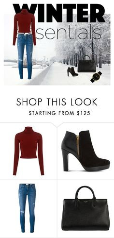 """""""Untitled #2"""" by amra-memic ❤ liked on Polyvore featuring A.L.C., Dune, Frame and Yves Saint Laurent"""