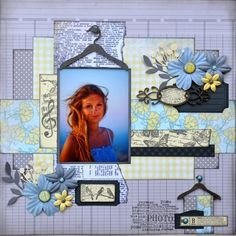 Une page avec des décorations d' Embelliscrap