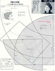 Японские выкройки шапочек (подборка)