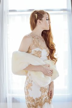 Winter Wedding Fabulous Fur with Gorgeous and Delicate Dress