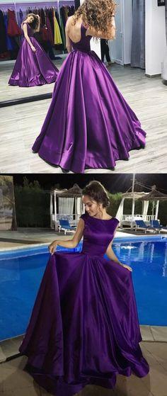 Chic Prom Dresses A-line Floor-length Regency Lace-up Sexy Prom Dress/Evening Dress JKL347#annapromdress #prom #promdress #evening #eveningdress #dance #longdress #longpromdress #fashion #style #dress #Regency #satin