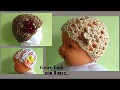 Gorrito a crochet recién nacido ( todas las tallas) - YouTube