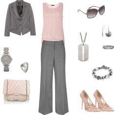 Pink and Grey suit