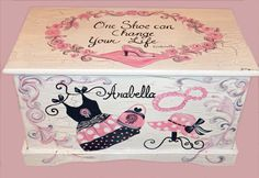 Glamour Girl Shabby Chic Toy Chest Custom Designed Done With Monogram Or Name…