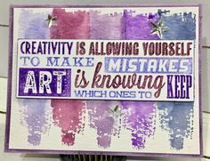 Sample card for Tim Holtz  Stamper's Anonymous   Brushstrokes CMS293 Motivation I CMS289  by playswellwithpaper