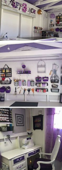 """Purple Craft Shack   17 DIY She Shed Decor Ideas for Women that give man caves a run for their money!     The term """"She Shed"""" is pretty ridiculous, but that doesn't mean I don't want one!"""