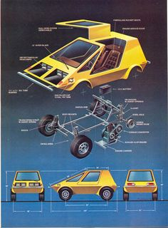 An Exploded Diagram of How An Urba Car Is Assembled - From Mechanix Illustrated, April 1975