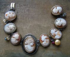 Antique Cameos ... great bracelet by French Sentiments