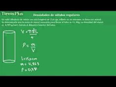 densidad de solidos regulares segunda parte