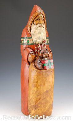 Rustic Santa and Bear - Al Longo