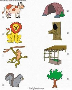 Crafts,Actvities and Worksheets for Preschool,Toddler and Kindergarten.Lots of worksheets and coloring pages. Toddler Learning Activities, Animal Activities, Kids Learning, Farm Animals Preschool, Preschool Activities, Kids Animals, Printable Preschool Worksheets, Kindergarten Worksheets, Animals And Their Homes