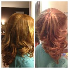 These curls are so easy! All you do is take a piece of hair and curl it around your fingers (you can use as many fingers to make your curls as big or small as you want). Then you use a flats iron and hold on the tin foil for 45 seconds. After that you wait for the tin foil to cool and then take it off. It's so easy!