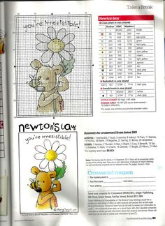 Cross-stitch Newton's Law - You're Irresistible ( The World Of Cross Stitching)