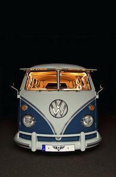 VW T1 Fensterbus - love the lighting in the  old split window... | re-pinned by http://www.wfpblogs.com/category/a-perfect-gentleman/