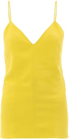 Acid bright hues like this yellow Leon camisole from Stella McCartney are a welcome departure from winters muted palettes.