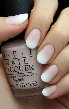 White Ombre Bride Bridal Nails
