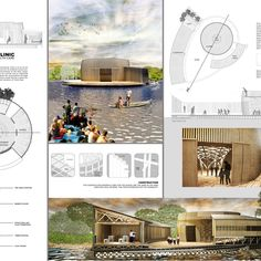 These winning ideas offer floating solutions to aid Cambodia's Tonlé Sap Lake community Architecture Presentation Board, Presentation Boards, Architectural Presentation, Architectural Models, Architectural Drawings, Floating Architecture, Active Design, Tonle Sap, Bamboo Structure