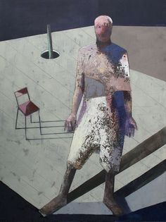 """Man on the breeding ground"" 160x120 oil on canvas 2014"