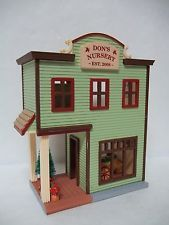 Hallmark 2008 Nostalgic Houses and Shops 25th Don's Nursery Ornament No BOX