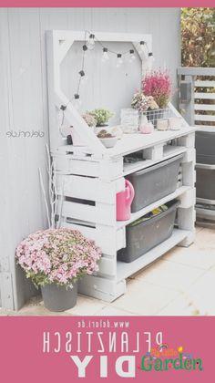 Paletten Pflanztisch DIY Garten - delari - Anleitung  #anleitung #delari #garten #paletten #pflanztisch